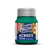 Tinta para Tecido Fosca, 37 ml, Contém 12 Unidades, Acrilex - Verde Mar