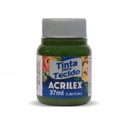 Tinta para Tecido Fosca, 37 ml, Contém 12 Unidades, Acrilex - Verde Oliva