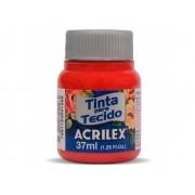 Tinta para Tecido Fosca, 37 ml, Contém 12 Unidades, Acrilex - Vermelho Escarlate