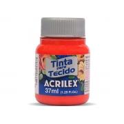 Tinta para Tecido Fosca, 37 ml, Contém 12 Unidades, Acrilex - Vermelho Vivo