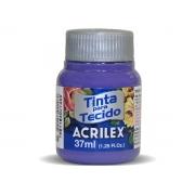Tinta para Tecido Fosca, 37 ml, Contém 12 Unidades, Acrilex - Violeta