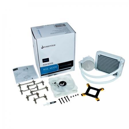Water Cooler Rise Mode Frost Z120 120mm, RGB, AMD/INTEL - RM-WCZ-01-RGB - Branco