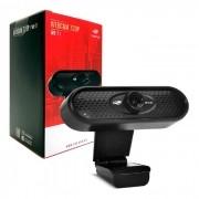 WebCam C3Tech WB-71BK, Resolução HD 720p, USB 2.0, 1MP, 30 FPS, Microfone Embutido