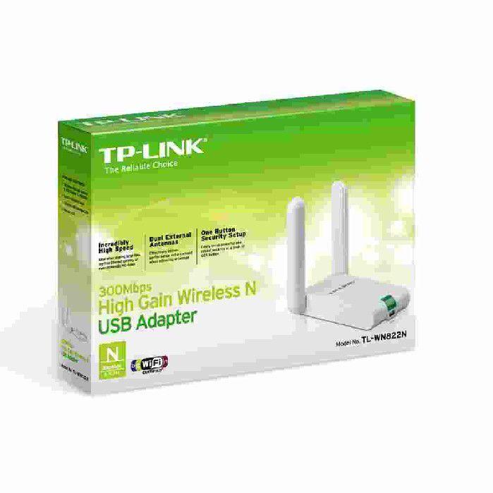 Adaptador de Rede TP-Link USB Wireless 300Mbps TL-WN822N com 2 Antenas