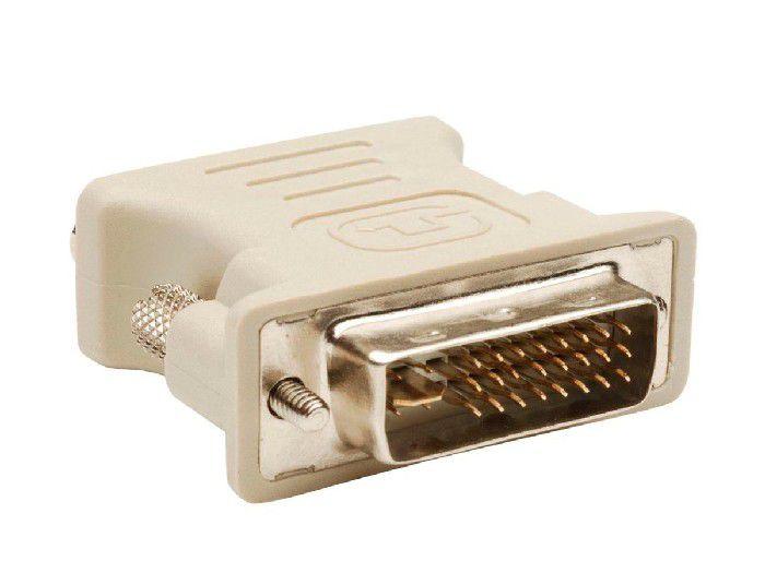 Adaptador DVI Macho 24+1 Pinos P/ VGA Fêmea Rohs 1102