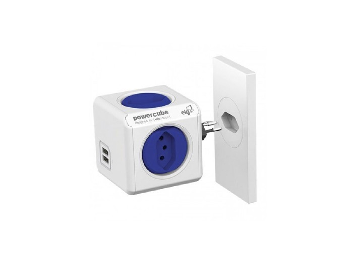 Adaptador Multiplo ELG Powercube Bivolt 2 USB Powercube PWC-R4U