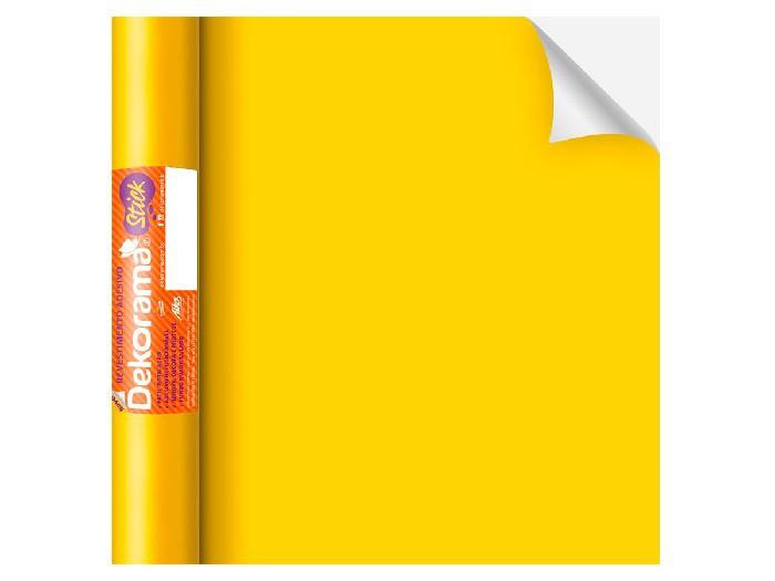 Adesivo Stick liso Amarelo Fosco, Contém 1 Rolo, 45cmx10m - Dekorama - 26070