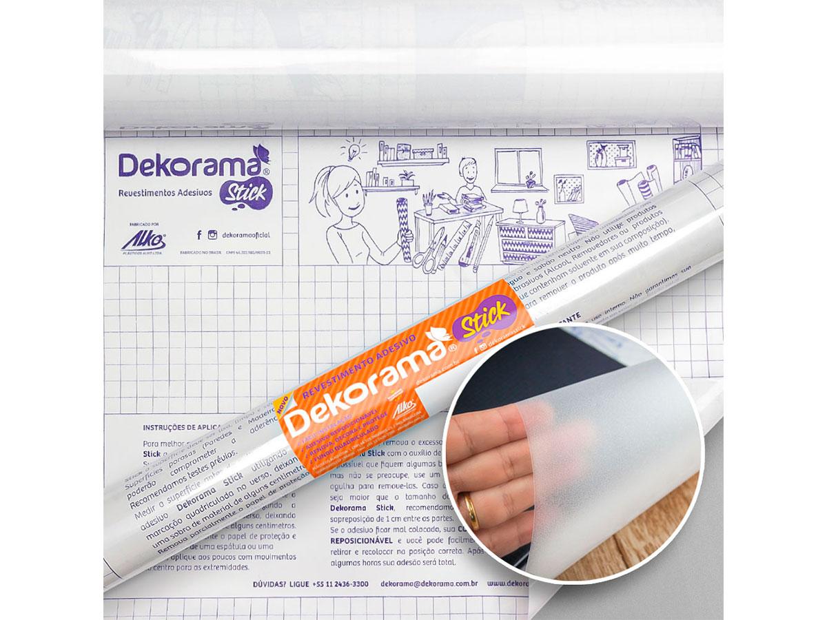 Adesivo Stick Liso Translucido, Contém 1 Rolo, 45cmx10m - Dekorama - 26078