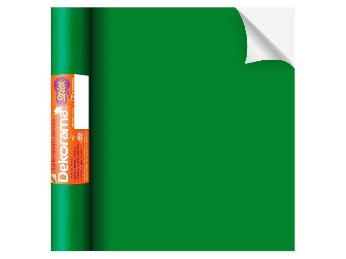Adesivo Stick Lisos Verde Fosco, Contém 1 Rolo, 45cmx10m - Dekorama - 26080