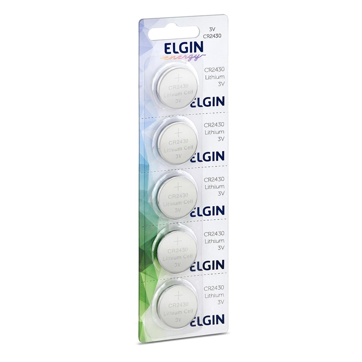 Bateria Botão Litio Elgin CR2430 (Cartela com 5 unidades) - 82304