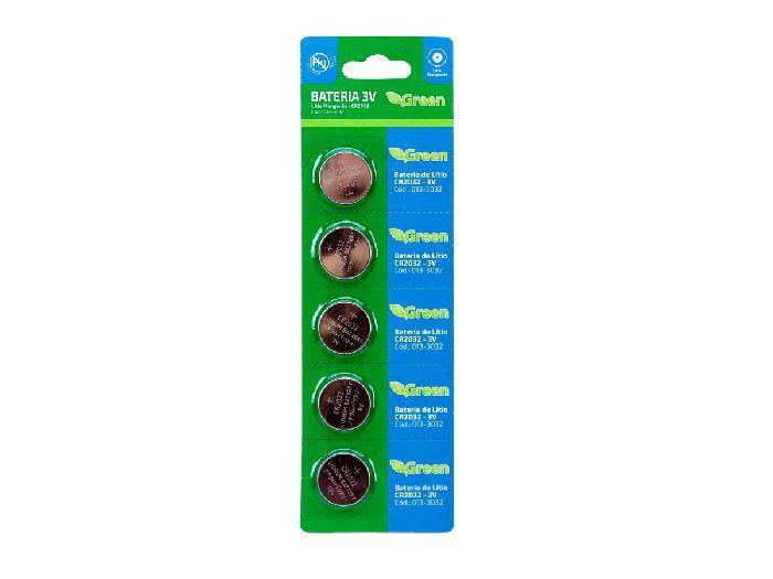 Bateria Litio 3V Green CR2032 (blister C/5) - 013-3032