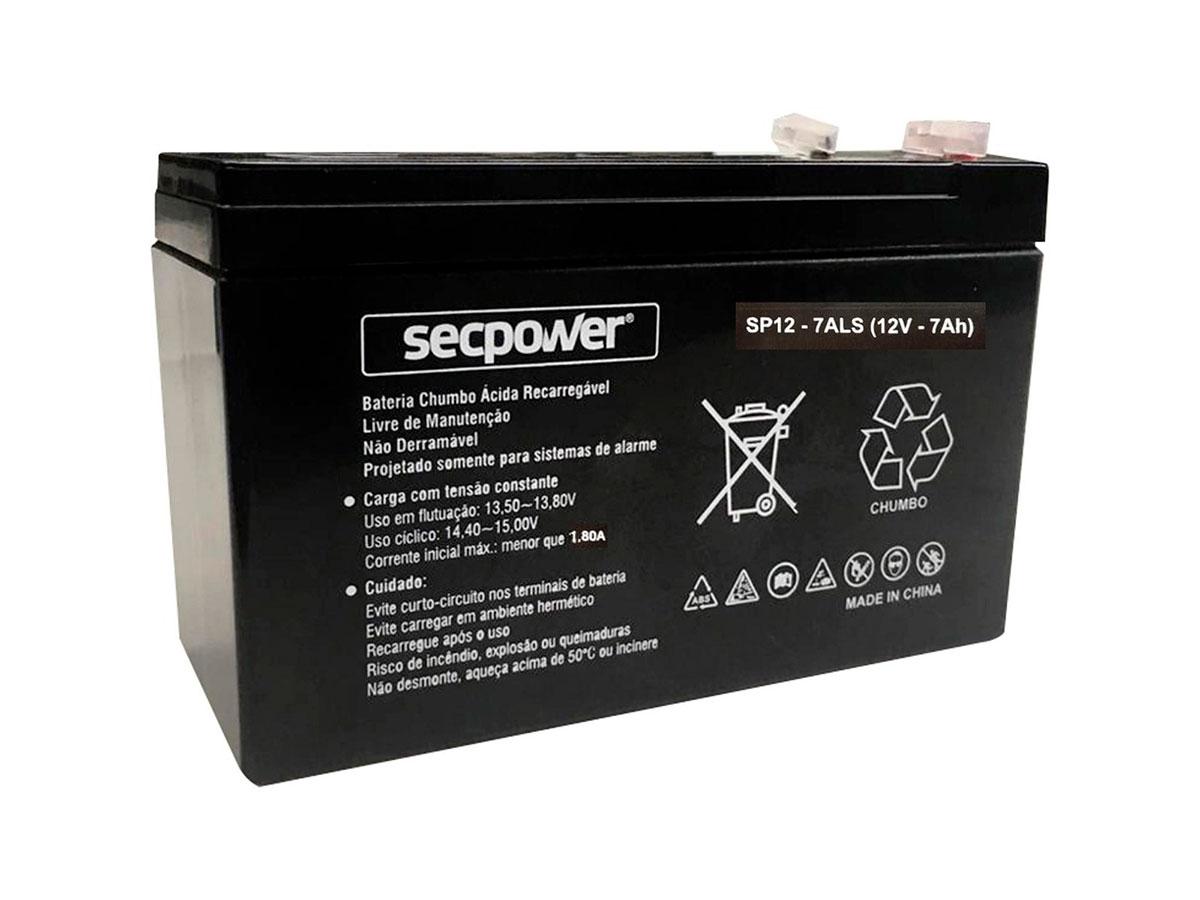 Bateria Secpower P/segurança/nobreak 12V 7.0Ah SP 1270ALS