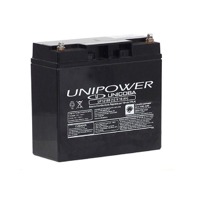 BATERIA UNIPOWER P/NOBREAK 12V 18.0AH M5 UP12180