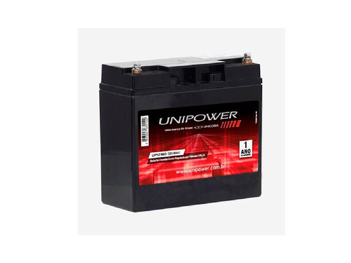 BATERIA UNIPOWER P/NOBREAK 12V 18.0AH M5 UP12180