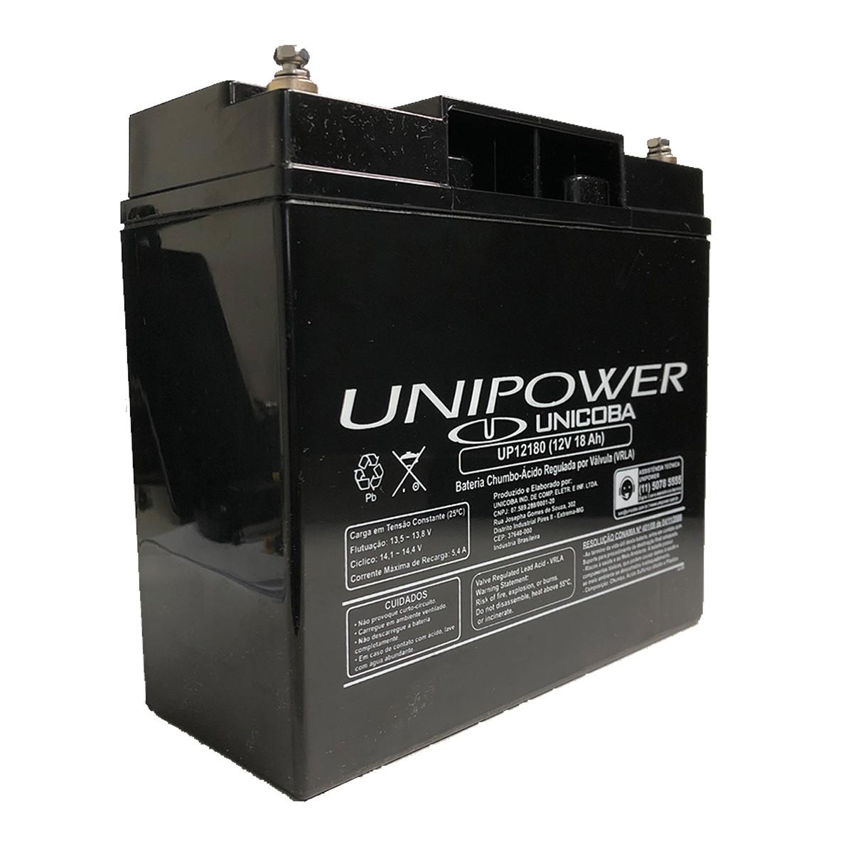 Bateria Unipower para Nobreak UP12180-06C029 M5 12V 18.0Ah