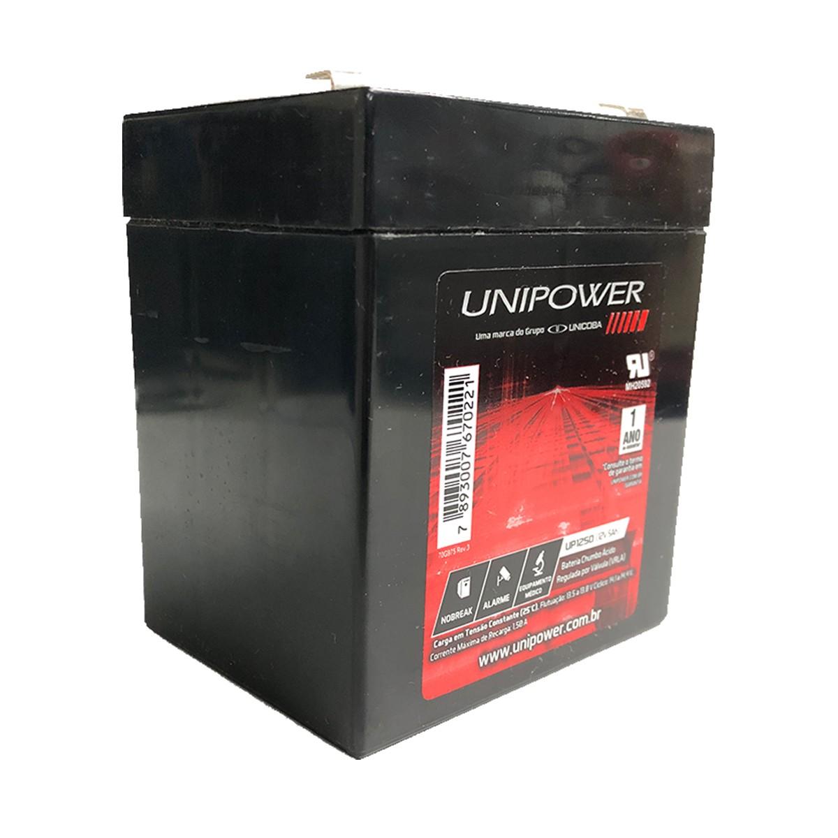 Bateria Unipower para Nobreak UP1250-06C013 F187 12V 5.0AH
