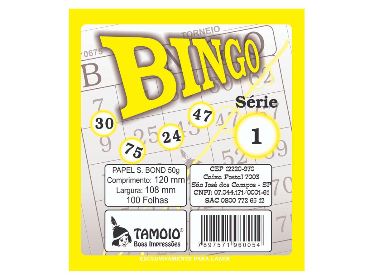 Bingo Amarelo, 100 Folha, Contém 15 Unidades, Tamoio - 06005
