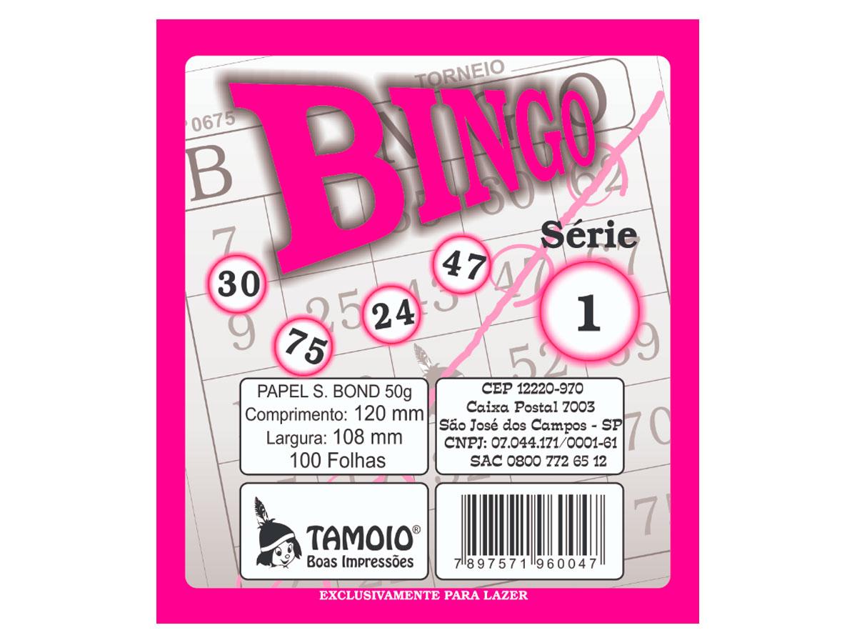 Bingo Rosa, 100 Folha, Contém 15 Unidades, Tamoio - 06004