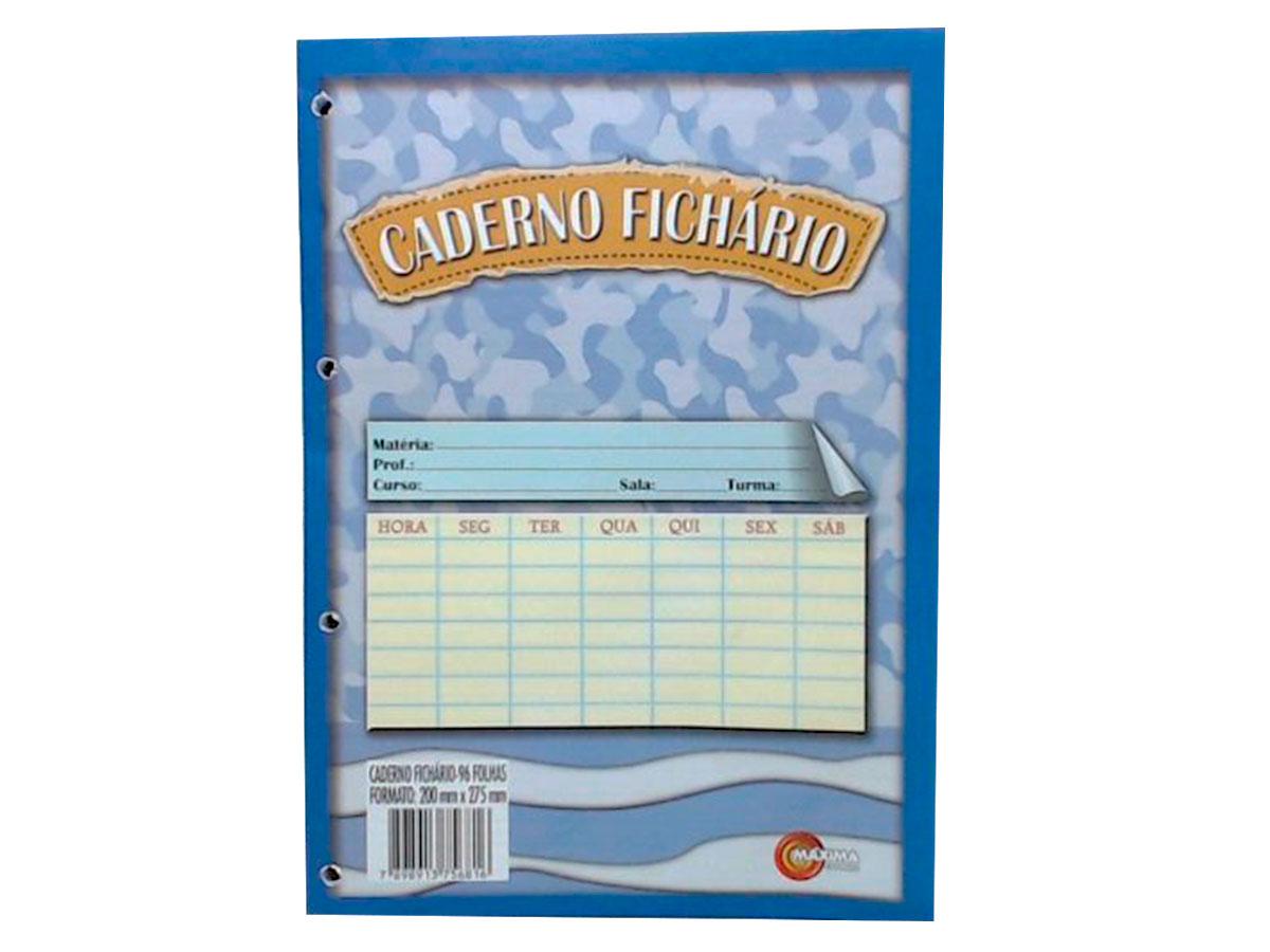 Bloco de Fichário Branco, 96 Folhas, Caixa Com 10 Unidades, Máxima Caderno - 214