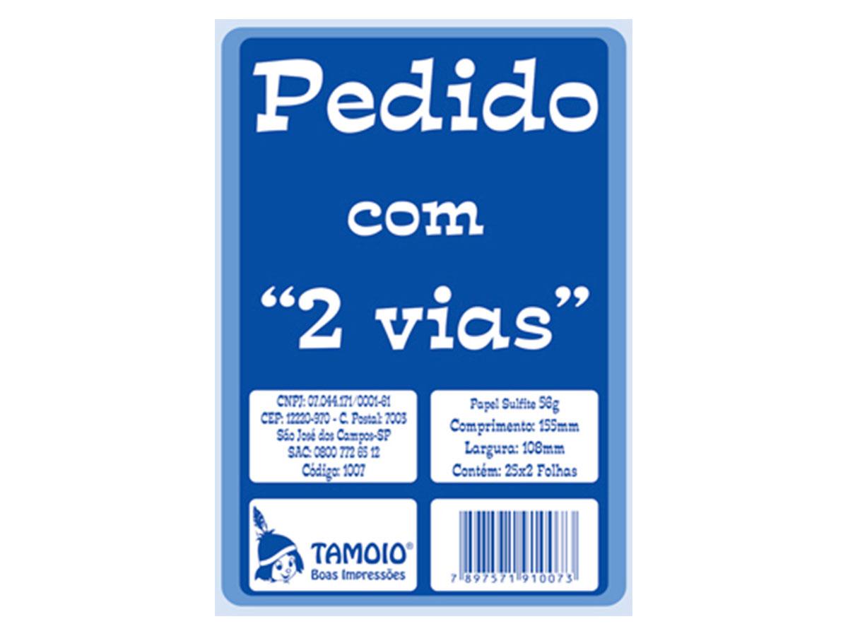 Bloco de Pedido 1/36 Pequeno, 2 Via, 25 x 2 Folhas, Contém 20 Blocos, Tamoio - 01007
