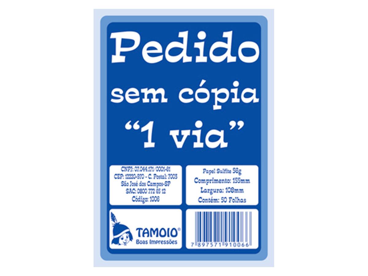 Bloco de Pedido Sem Cópia 1/36 Pequeno, 1 Via, 50 Folhas, Contém 20 Blocos, Tamoio - 01006