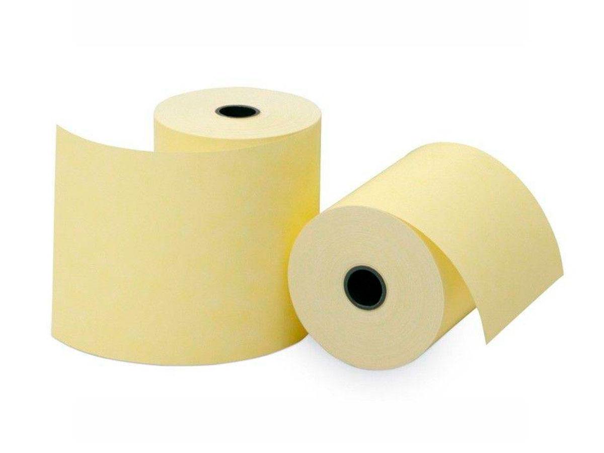 Bobina Térmica Amarela para Maquina de Cartão, 57 mm x 22 m, Caixa Com 84 Unidades, Regispel