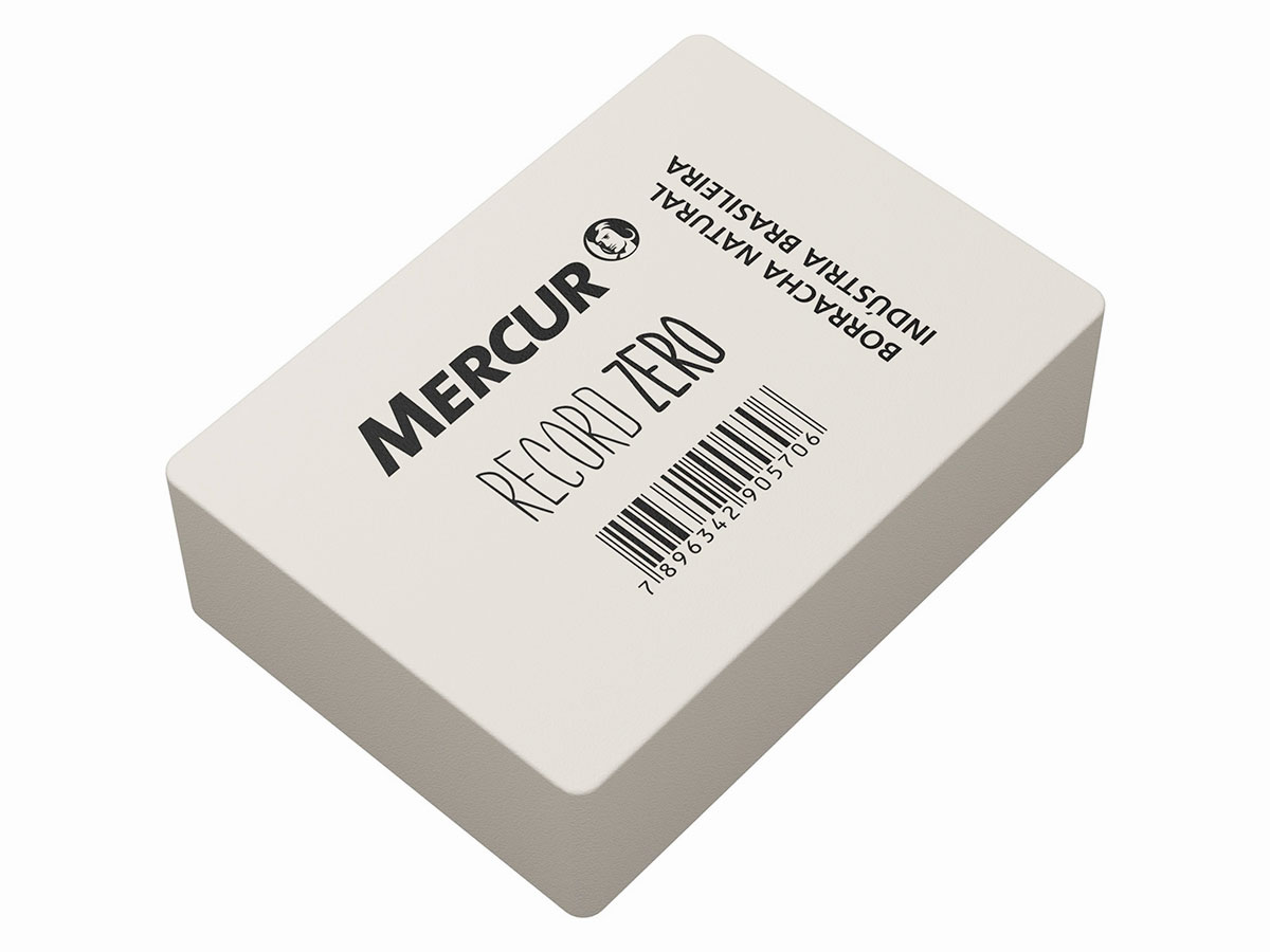 Borracha de Apagar Record Nº Zero Pacote Com 08 Unidades Mercur - Branca - B01010101019