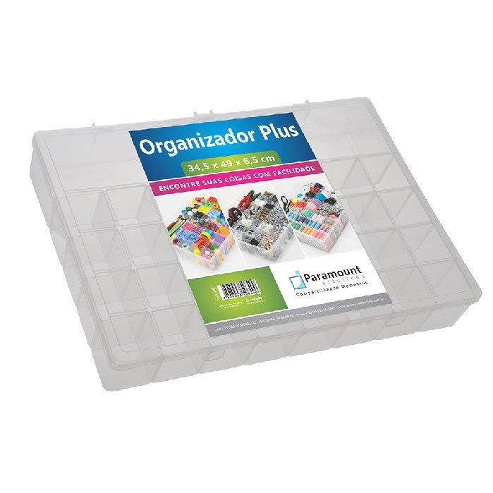 BOX ORGANIZADOR PARAMOUNT TRANSPARENTE PLUS - 346