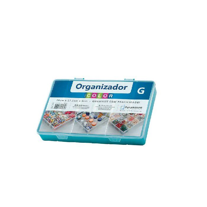 BOX ORGANIZADOR PARAMOUNT VERDE G COLOR - 706