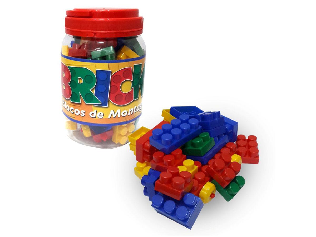 Bricks Blocos de Montar, Pote Com 56 Peças, Pais e Filhos - 4747