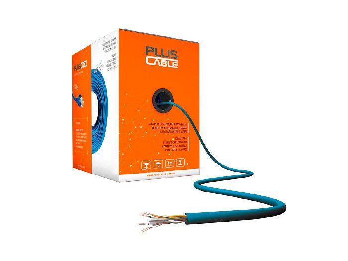Cabo CFTV C3tech 4/8 Vias PC-ETH3000BL Azul Plusc 300Mts
