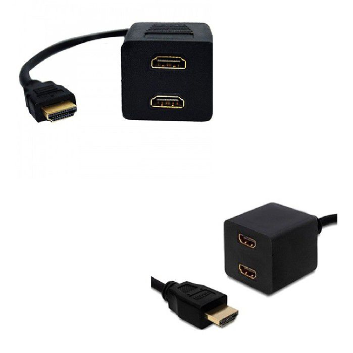 Cabo HDMI Macho X com 2 Saidas HDMI Femea de 0,20 cm Rohs
