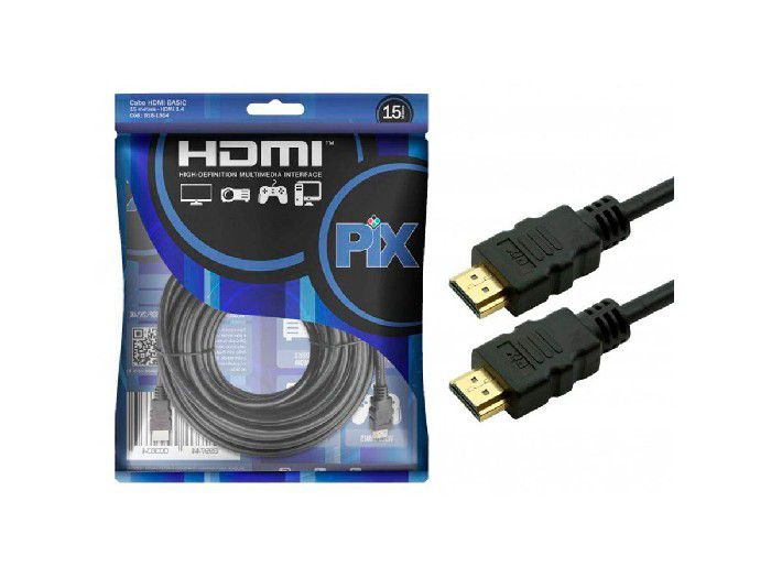 Cabo HDMI Pix V 1.4 M x M S/Filtro UltraHD 15,0Mts 018-1514