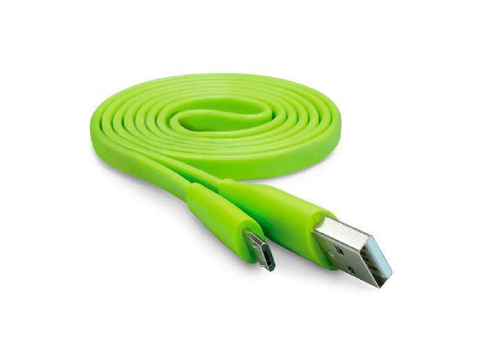 Cabo Micro USB Flat Elg P/Recarga/Sincronização 1,0mt Verde - L510VD