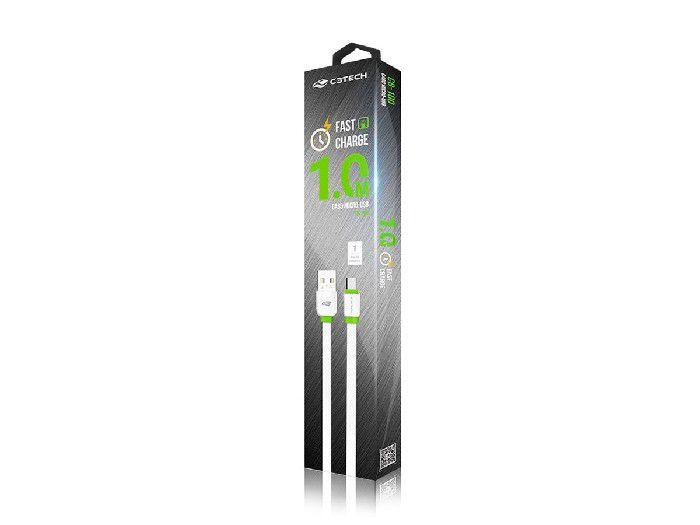 Cabo Micro USB P/Smartphone USB C3Tech 2,0A 1M CB-100WH