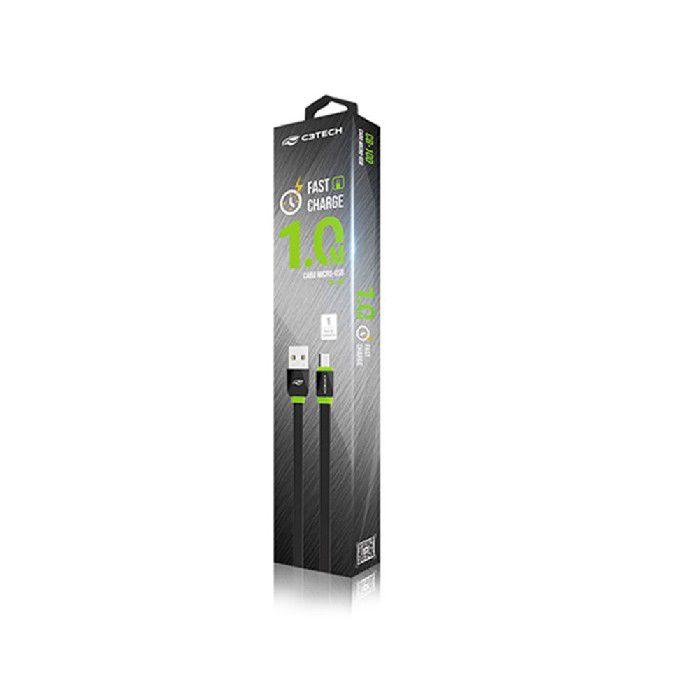 Cabo Micro Usb Smartphone C3tech 2.0a 1mtr Cb-100bk