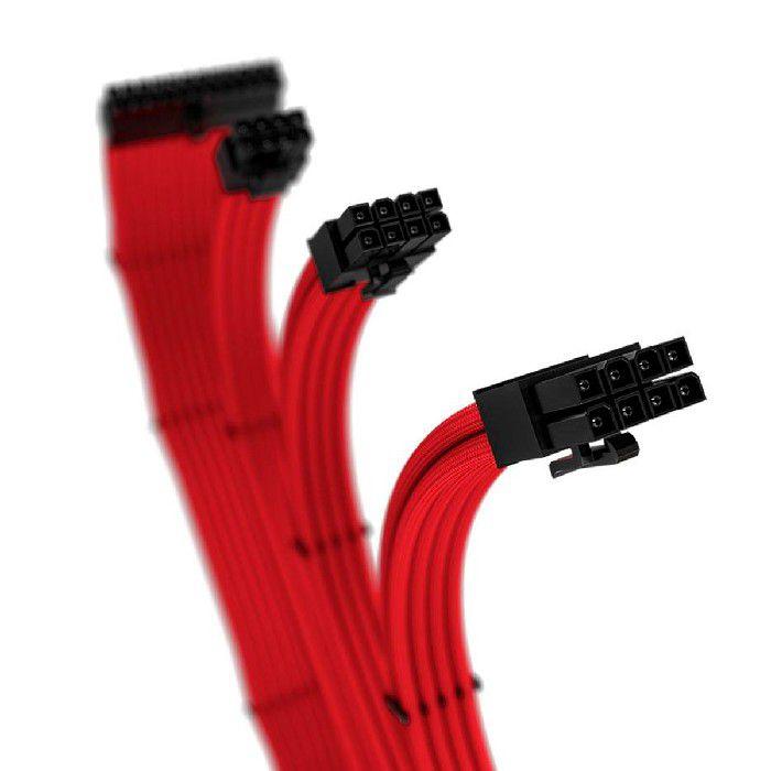 Cabo Sleeved Rise Mode Full Red Vermelho 4 Kit RM-SL-FR 30cm