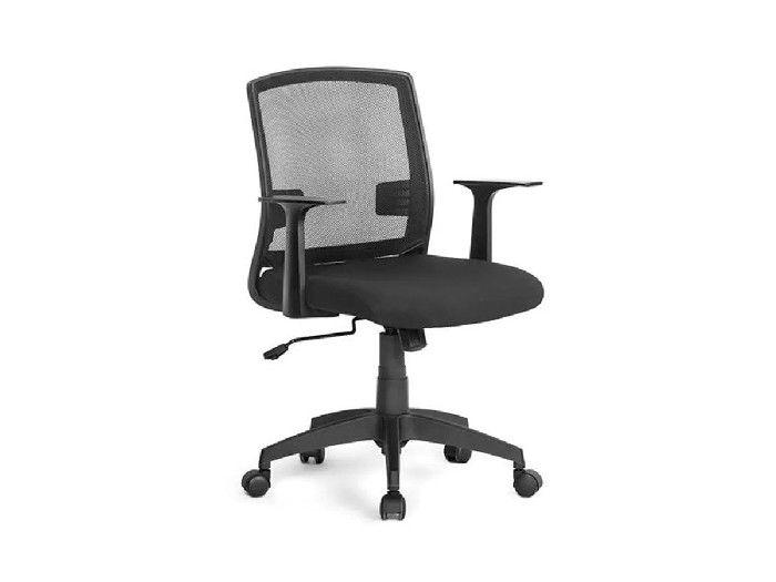 Cadeira Office Entrada Com Braços Fixos Preto Multilaser - GA180