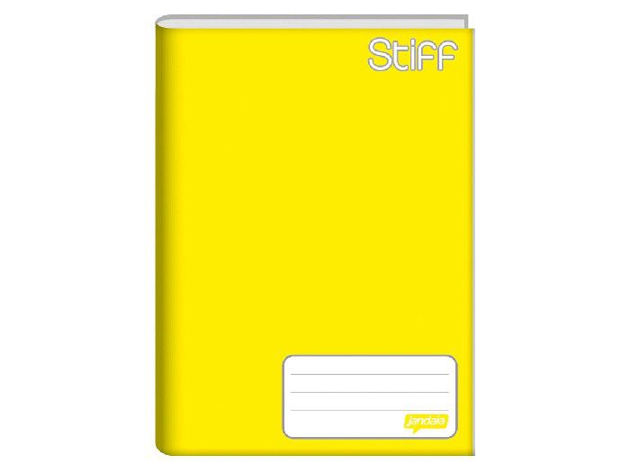 Caderno Brochura 1/4 Capa Dura, 48 Folhas, Pacote C/ 10 Unidades, Jandaia - Amarelo - 4911