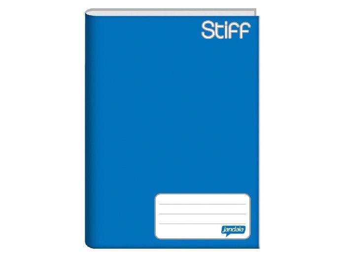 Caderno Brochura 1/4 Capa Dura, 48 Folhas, Pacote C/ 10 Unidades, Jandaia - Azul - 4811