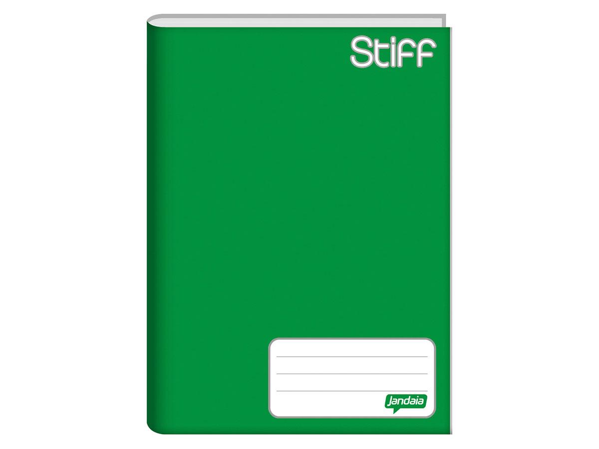 Caderno Brochura 1/4 Capa Dura, 48 Folhas, Pacote C/ 10 Unidades, Jandaia - Verde - 5011