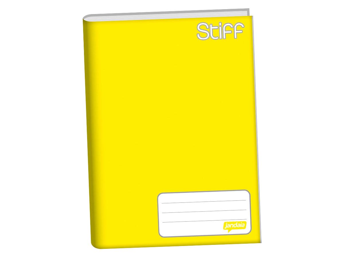 Caderno Brochura 1/4 Capa Dura, Contém 96 Folhas, Jandaia - Amarelo - 0005311