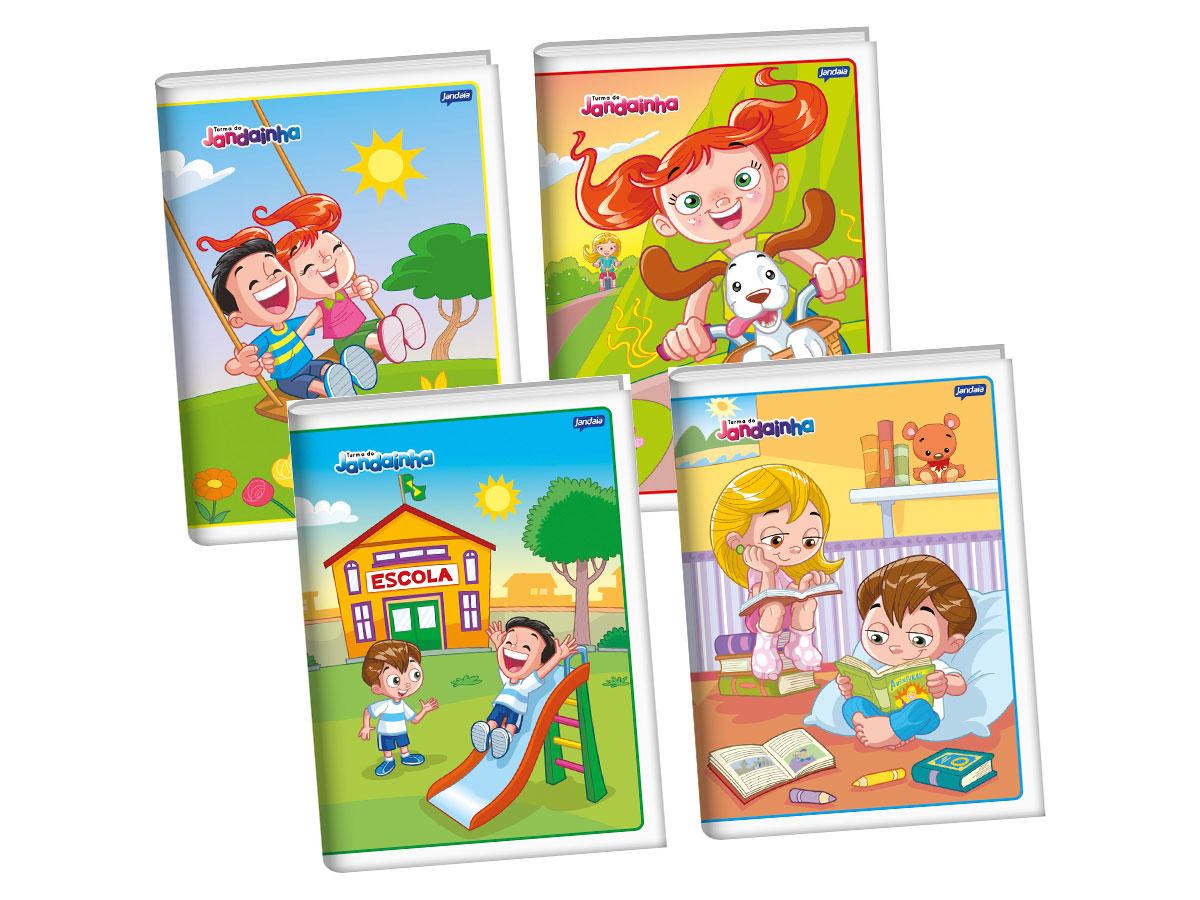 Caderno Brochura 1/4 Flexível, 96 Folhas, Pacote C/ 10 Unidades, Jandaia - 41077