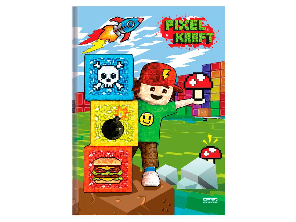 Caderno Brochurão C.D. Pixel Kraft, 48 Fls, Pct. c/ 10 Un. - São Domingos - 4840