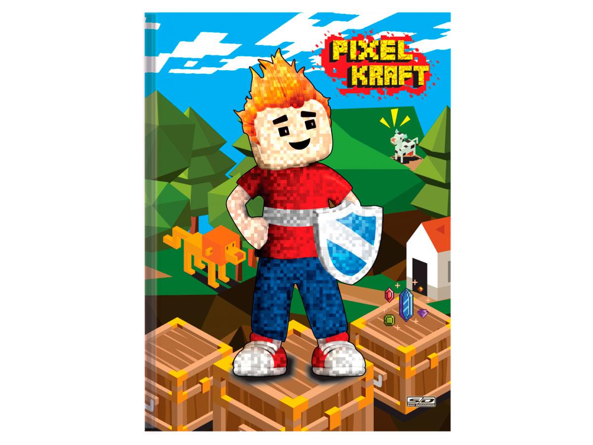 Caderno Brochurão C.D. Pixel Kraft, 96 Fls, Pct. c/ 5 Un. - São Domingos - 4515