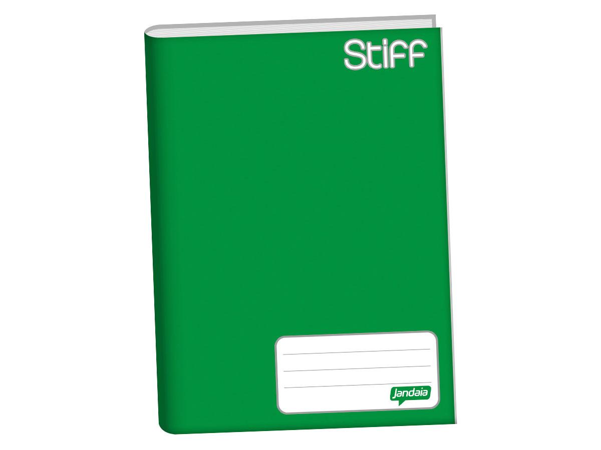 Caderno Brochurão Capa Dura, 96 Folhas, Pacote C/ 5 Unidades, Jandaia - Verde - 6211