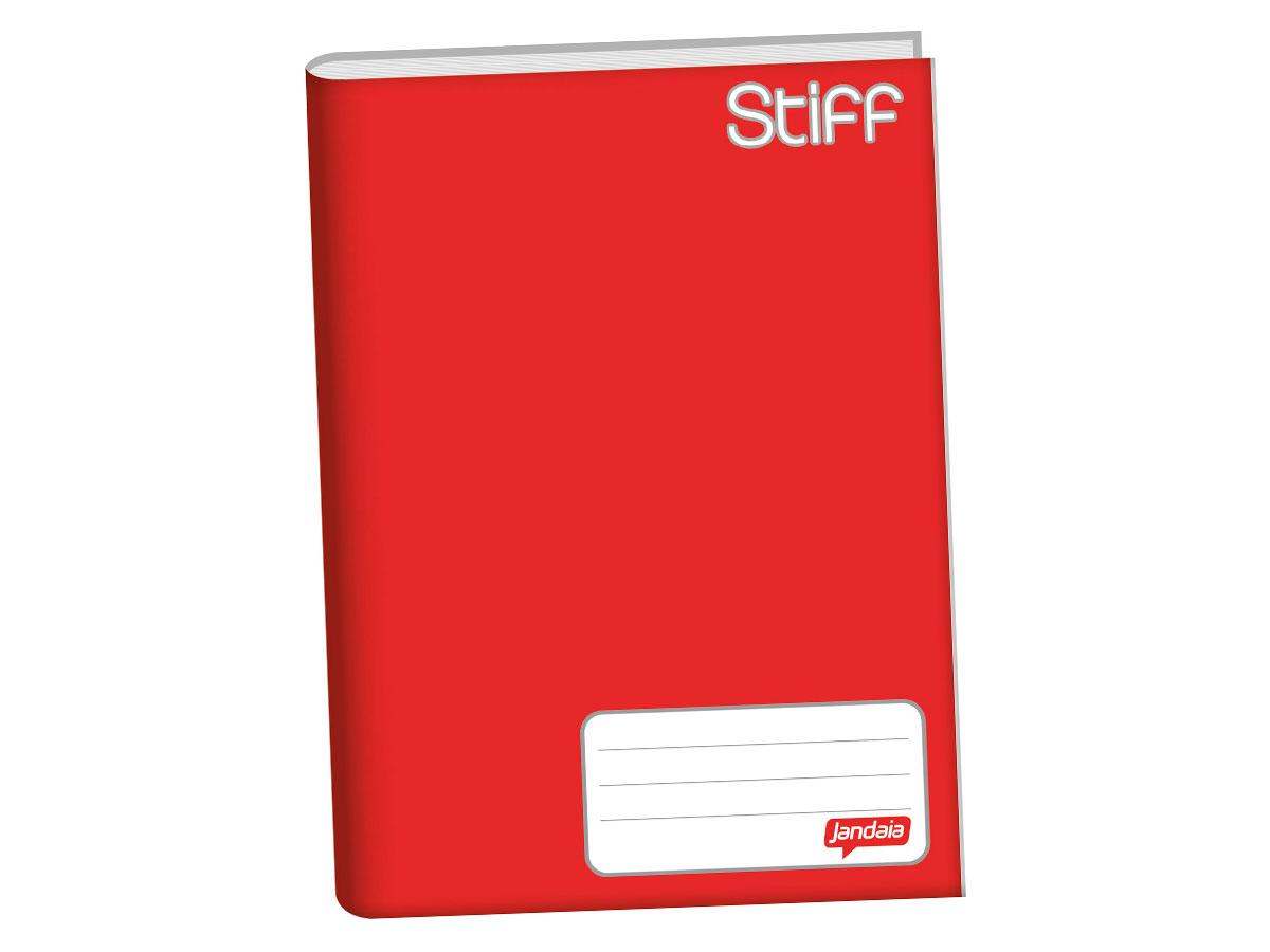 Caderno Brochurão Capa Dura, 96 Folhas, Pacote C/ 5 Unidades, Jandaia - Vermelho - 6311