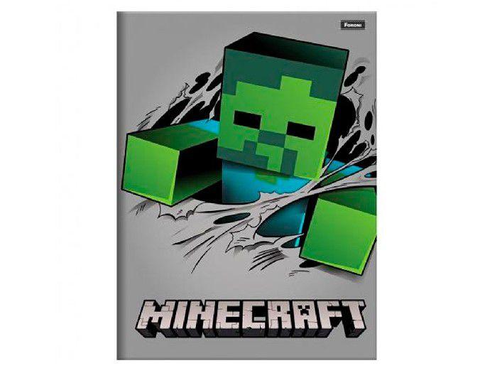 Caderno Brochurão Capa Dura Minecraft 96 Fls. Pct. C/5 Unidades - Foroni