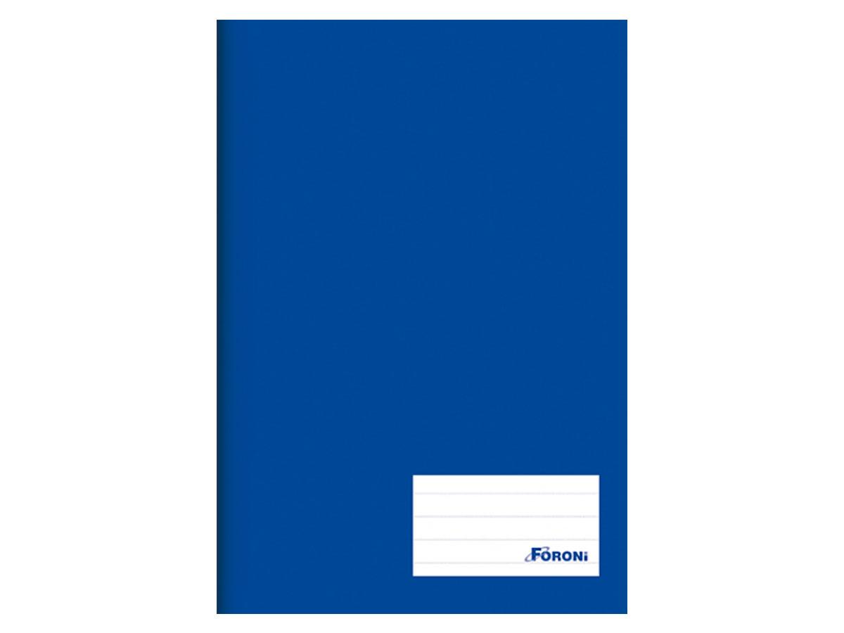 Caderno Brochurão Liso Class, Capa Dura 96 Folhas, Caixa Com 5 Unidades, Foroni - Azul