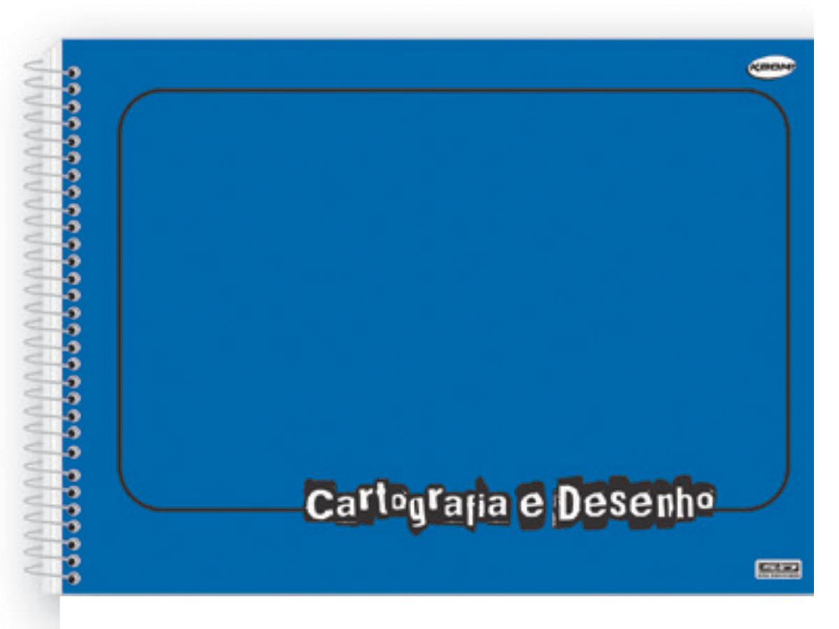 Caderno Desenho Espiral C.D. Azul, 60 Fls. Pct. C/ 5 Un. - São Domingos - 4727